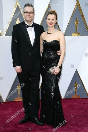 Stock Image of Duncan Jarman (l) and Guest Arrive For the 88th Annual Academy Awards Ceremony at the Dolby Theatre in Hollywood California Usa 28 February 2016 the Oscars Are Presented For Outstanding Individual Or Collective Efforts in 24 Categories in Filmmaking United States Hollywood