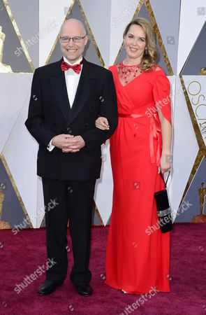 Stock Image of Konstantin Bronzit (l) and Guest Arrives For the 88th Annual Academy Awards Ceremony at the Dolby Theatre in Hollywood California Usa 28 February 2016 the Oscars Are Presented For Outstanding Individual Or Collective Efforts in 24 Categories in Filmmaking United States Hollywood