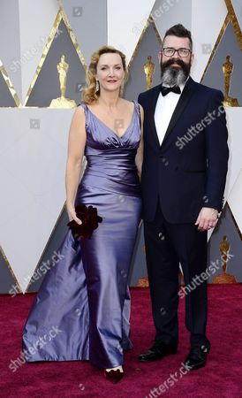 Sian Grigg (l) and Guest Arrive For the 88th Annual Academy Awards Ceremony at the Dolby Theatre in Hollywood California Usa 28 February 2016 United States Hollywood
