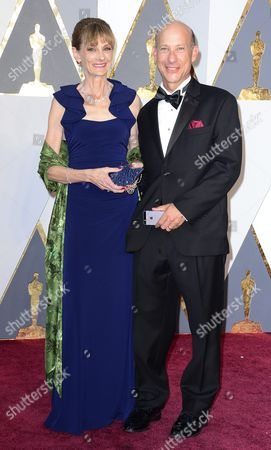 Stock Image of Lon Bender (r) and Guest Arrive For the 88th Annual Academy Awards Ceremony at the Dolby Theatre in Hollywood California Usa 28 February 2016 the Oscars Are Presented For Outstanding Individual Or Collective Efforts in 24 Categories in Filmmaking United States Hollywood