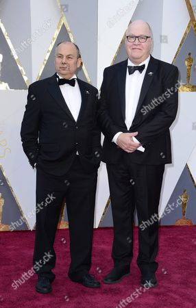 Mark Burton (l) and Richard Starzak (r) Arrive For the 88th Annual Academy Awards Ceremony at the Dolby Theatre in Hollywood California Usa 28 February 2016 the Oscars Are Presented For Outstanding Individual Or Collective Efforts in 24 Categories in Filmmaking United States Hollywood