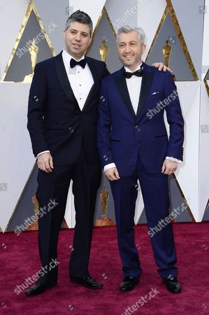 Evgeny Afineevsky (l) and Den Tolmor (r) Arrive For the 88th Annual Academy Awards Ceremony at the Dolby Theatre in Hollywood California Usa 28 February 2016 United States Hollywood