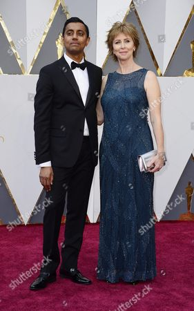 Sanjay Patel (l) and Nicole Grindle (r) Arrive For the 88th Annual Academy Awards Ceremony at the Dolby Theatre in Hollywood California Usa 28 February 2016 the Oscars Are Presented For Outstanding Individual Or Collective Efforts in 24 Categories in Filmmaking United States Hollywood