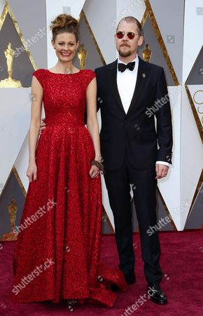 Love Larson (r) and Eva Von Bahr (l) Arrive For the 88th Annual Academy Awards Ceremony at the Dolby Theatre in Hollywood California Usa 28 February 2016 United States Hollywood