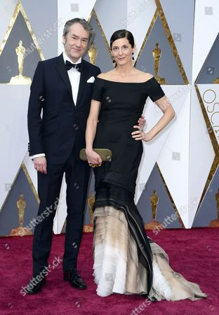 Carter Burwell (l) and Christine Sciulli Arrive For the 88th Annual Academy Awards Ceremony at the Dolby Theatre in Hollywood California Usa 28 February 2016 the Oscars Are Presented For Outstanding Individual Or Collective Efforts in 24 Categories in Filmmaking United States Hollywood