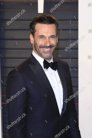 John Hamm Arriving For the 2016 Vanity Fair Oscar Party Following the 88th Annual Academy Awards Ceremony in Beverly Hills California Usa 28 February 2016 the Oscars Were Presented For Outstanding Individual Or Collective Efforts in 24 Categories in Filmmaking United States Beverly Hills
