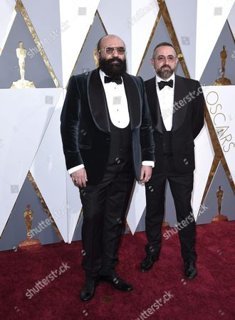 Paco Delgado (l) and Guest Arrives For the 88th Annual Academy Awards Ceremony at the Dolby Theatre in Hollywood California Usa 28 February 2016 the Oscars Are Presented For Outstanding Individual Or Collective Efforts in 24 Categories in Filmmaking United States Hollywood