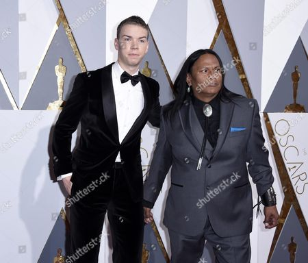 Will Poulter (l) and Arthur Redcloud Arrive For the 88th Annual Academy Awards Ceremony at the Dolby Theatre in Hollywood California Usa 28 February 2016 the Oscars Are Presented For Outstanding Individual Or Collective Efforts in 24 Categories in Filmmaking United States Hollywood