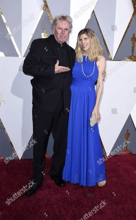 Gary Busey (l) and Wife Steffanie Sampson (r) Arrive For the 88th Annual Academy Awards Ceremony at the Dolby Theatre in Hollywood California Usa 28 February 2016 the Oscars Are Presented For Outstanding Individual Or Collective Efforts in 24 Categories in Filmmaking United States Hollywood