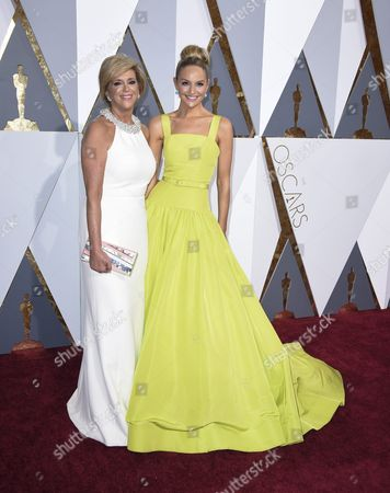 Joy Mangano (l) and Jackie Miranne Arrive For the 88th Annual Academy Awards Ceremony at the Dolby Theatre in Hollywood California Usa 28 February 2016 the Oscars Are Presented For Outstanding Individual Or Collective Efforts in 24 Categories in Filmmaking United States Hollywood