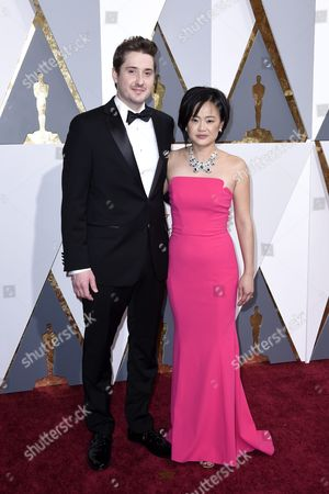 Stock Picture of Rosa Tran (r) and Guest Arrives For the 88th Annual Academy Awards Ceremony at the Dolby Theatre in Hollywood California Usa 28 February 2016 the Oscars Are Presented For Outstanding Individual Or Collective Efforts in 24 Categories in Filmmaking United States Hollywood