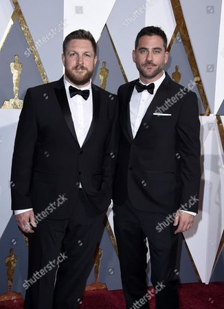 Bryn Mooser (l) and David Darg (r) Arrive For the 88th Annual Academy Awards Ceremony at the Dolby Theatre in Hollywood California Usa 28 February 2016 the Oscars Are Presented For Outstanding Individual Or Collective Efforts in 24 Categories in Filmmaking United States Hollywood