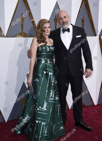 Stock Photo of Jonathan Herman (r) and Andrea Berloff (l) Arrive For the 88th Annual Academy Awards Ceremony at the Dolby Theatre in Hollywood California Usa 28 February 2016 the Oscars Are Presented For Outstanding Individual Or Collective Efforts in 24 Categories in Filmmaking United States Hollywood