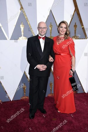 Stock Picture of Konstantin Bronzit (l) and Guest Arrive For the 88th Annual Academy Awards Ceremony at the Dolby Theatre in Hollywood California Usa 28 February 2016 the Oscars Are Presented For Outstanding Individual Or Collective Efforts in 24 Categories in Filmmaking United States Hollywood