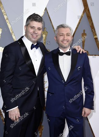 Nominees For Best Documentary Feature For 'Winter on Fire: Ukraine's Fight For Freedom' Evgeny Afineevsky (l) and Producer Den Tolmor Arrive For the 88th Annual Academy Awards Ceremony at the Dolby Theatre in Hollywood California Usa 28 February 2016 the Oscars Are Presented For Outstanding Individual Or Collective Efforts in 24 Categories in Filmmaking United States Hollywood
