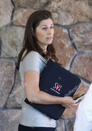 Reporter Erin Burnett Arrives For the Allen and Company 32nd Annual Media and Technology Conference in Sun Valley Idaho Usa 08 July 2014 the Event Brings Together the Leaders of the Worlds of Media Technology Sports Industry and Politics United States Sun Valley
