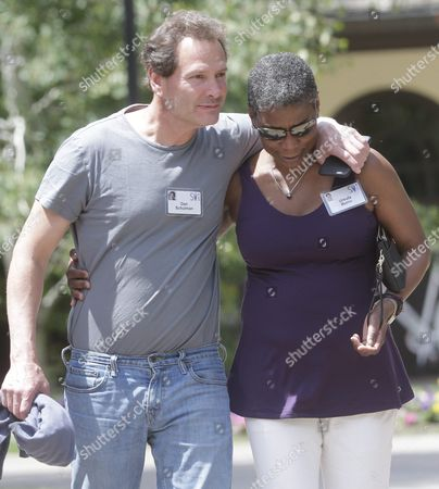 Daniel Schulman President of Paypal and Chairman of Symantec (l) with Ursula M Burns Chairwoman and Ceo of Xerox (r) During a Break at the Allen and Company 33rd Annual Media and Technology Conference in Sun Valley Idaho Usa 09 July 2015 the Event Brings Together the Leaders of the World's of Media Technology Sports Industry and Politics United States Sun Valley