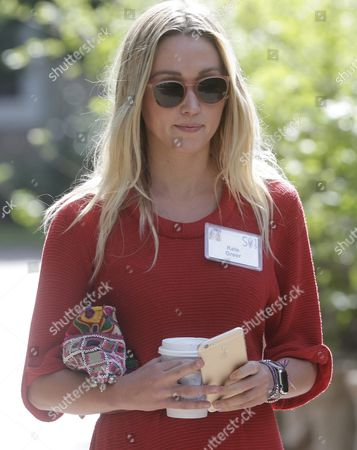 Stock Image of Actress Kate Greer During a Break at the Allen and Company 33rd Annual Media and Technology Conference in Sun Valley Idaho Usa 08 July 2015 the Event Brings Together the Leaders of the World's of Media Technology Sports Industry and Politics United States Sun Valley
