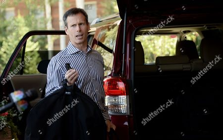 Stock Picture of Tom Staggs Chairman of the Walt Disney Company's Parks and Resorts Division Arrives For Allen and Company 31st Annual Media and Technology Conference in Sun Valley Idaho Usa 09 July 2013 the Event Which Opens on 10 July 2012 Brings Together the Leaders of the Worlds of Media Technology Sports Industry and Politics United States Sun Valley