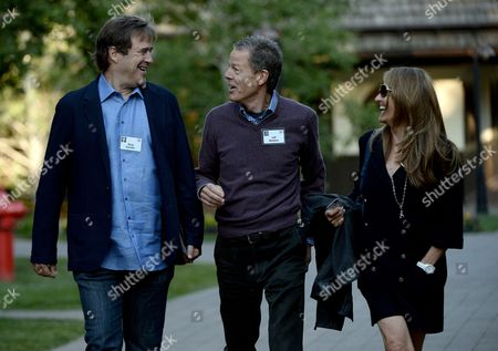 Bing Gordon (l) General Partner at Kleiner Perkins Caufield & Byers His Wife Debra (r) and Jeff Bewkes (c) Ceo of Time Warner Attend the Allen and Company 31st Annual Media and Technology Conference in Sun Valley Idaho Usa 10 July 2013 the Event Brings Together the Leaders of the Worlds of Media Technology Sports Industry and Politics United States Sun Valley