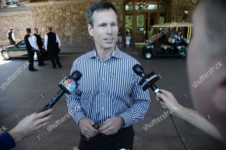 Tom Staggs Chairman of the Walt Disney Company's Parks and Resorts Division Arrives For Allen and Company 31st Annual Media and Technology Conference in Sun Valley Idaho Usa 09 July 2013 the Event Which Opens on 10 July 2012 Brings Together the Leaders of the Worlds of Media Technology Sports Industry and Politics United States Sun Valley