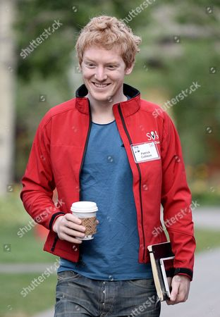 Stock Image of Patrick Collison Co-founder of Internet Company Stripe Attends the Allen and Company 31st Annual Media and Technology Conference in Sun Valley Idaho Usa 10 July 2013 the Event Brings Together the Leaders of the Worlds of Media Technology Sports Industry and Politics United States Sun Valley