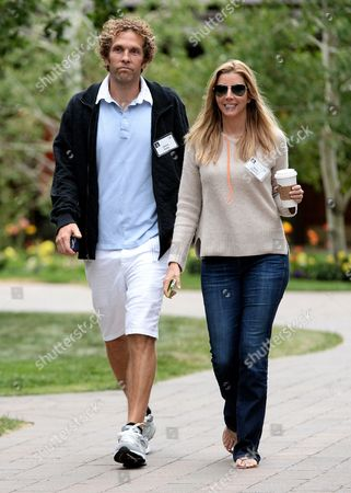 Sara Blakely (r) Founder of Spanx and Husband Jesse Itzler Attend the Allen and Company 31st Annual Media and Technology Conference in Sun Valley Idaho Usa 11 July 2013 the Event Brings Together the Leaders of the Worlds of Media Technology Sports Industry and Politics United States Sun Valley