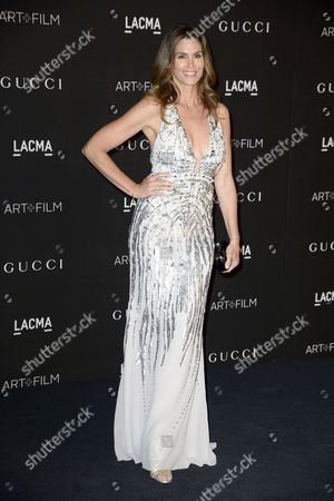 Us Model Cindy Crawford Arrives For the 2014 Lacma Art + Film Gala at the Los Angeles County Museum of Art (lacma) in Los Angeles California Usa 01 November 2014 the Event Honored Us Artist Barbara Kruger and Us Director Quentin Tarantino United States Los Angeles