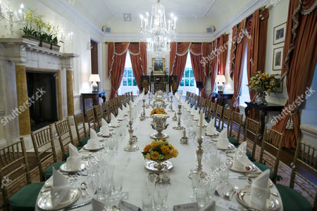 A Table Set For 37 Guests Awaits the Arrival of Britain's Prince Harry at the Residence of British Ambassador to the Us Sir Peter Westmacott in Washington Dc Usa 09 May 2013 Britain's Prince Harry Arrived in the United States 09 May Afternoon Kicking Off His Seven-day Official Visit with a Tour of Capitol Hill United States Washington