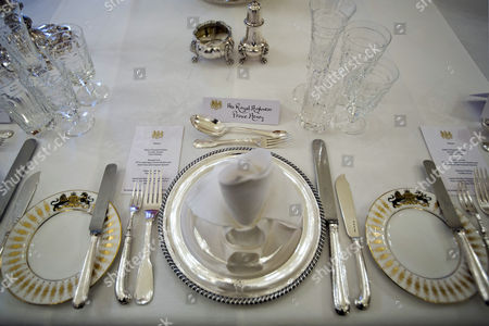 A Place Setting For Britain's Prince Harry Awaits His Arrival at a Table Set For 37 Guests at the Residence of British Ambassador to the Us Sir Peter Westmacott in Washington Dc Usa 09 May 2013 Britain's Prince Harry Arrived in the United States 09 May Afternoon Kicking Off His Seven-day Official Visit with a Tour of Capitol Hill United States Washington