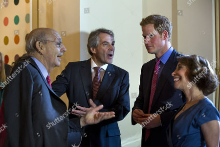 Britain's Prince Harry (c-r) Along with British Ambassador to the Us Sir Peter Westmacott (c-l) the Ambassador's Wife Lady Westmacott (r) Greet Supreme Court Justice Stephen Breyer (l) Before a Reception in the Prince's Honor at the Ambassador's Residence in Washington Dc Usa 09 May 2013 Prince Harry Kicked Off His Visit to the Us with Two Days in the Nation's Capital United States Washington
