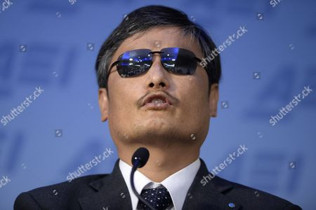 Chinese Civil Rights Activist Chen Guangcheng Delivers a Speech at the Event '25 Years After Tiananmen: a Discussion with Chen Guangcheng' at the American Enterprise Institute in Washington Dc Usa 03 June 2014 a Blind Self-taught Lawyer That Fled House-arrest in Rural China Chen Guangcheng Spoke Ahead of the 25th Anniversary of the Crackdown on Democracy Activists That Took Place in Beijing 04 June 1989 United States Washington