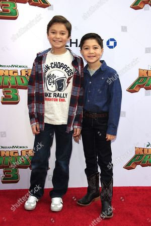 Stock Picture of Us Actor Pierce Gagnon and His Brother Us Actor/cast Member Steele Gagnon (r) Arrive For the Kung Fu Panda 3 World Premiere at the Tcl Chinese Theatre Imax in Hollywood Los Angeles California Usa 16 January 2016 the Movie Will Be Released in Us Theaters on 29 January United States Los Angeles