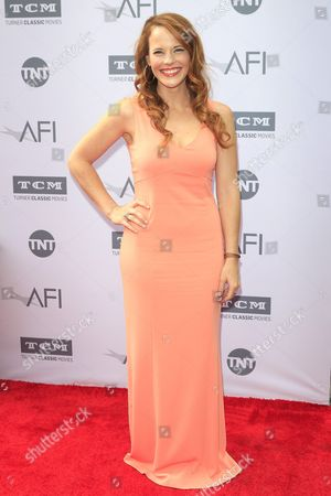 Stock Picture of Us Actress Katie Leclerc Arrives For the American Film Institute (afi) 44th Life Achievement Award Gala Tribute to John Williams at the Dolby Theatre in Hollywood Los Angeles California Usa 09 June 2016 the Televised Special Will Air in the Usa on 15 June 2016 United States Los Angeles