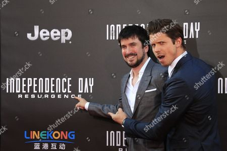 Stock Photo of Us Screenwriters (l-r) Nicholas Wright and James a Woods Arrive at the Premiere of Independence Day: Resurgence Held at the Tcl Chinese Theatre Imax in Hollywood California Usa 20 June 2016 the Movie Will Be Released in Us Theaters on 24 June United States Los Angeles