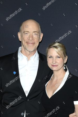 Us Actor and Cast Member J K Simmons (l) and His Wife Michelle Schumacher Arrive For the Warner Bros World Premiereof 'The Accountant' at the Tcl Chinese Theatre Imax in Hollywood Los Angeles California Usa 10 October 2016 the Movie Opens in the Us on 14 October 2016 United States Los Angeles