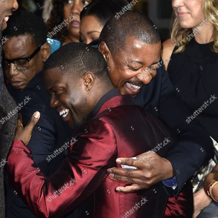 Us Director Robert Townsend (r) and Us Actor/cast Member Kevin Hart (l) Hug As They Arrive For the Premiere of 'About Last Night' at the Pan African Film and Arts Festival at the Cinerama in Hollywood California Usa 11 February 2014 the Movie Will Be Released in the Us on 14 February 2014 United States Hollywood