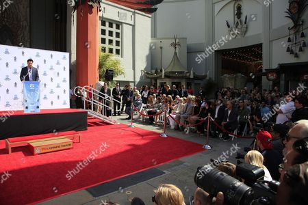 Us Actor Troy Garity (l) Speaks at the Hand and Footprints Ceremony For His Mother Us Actress Jane Fonda Outside the Tcl Chinese Theatre in Hollywood California Usa 27 April 2013 Fonda Joins a Select Group of Industry Luminaries who Have Been Honoured by Having Their Hand and Footprints Encased in Cement Panels That Pave the Forecourt of the Historic Theatre Her Prints Will Be Next to Those of Her Father Henry Fonda United States Hollywood