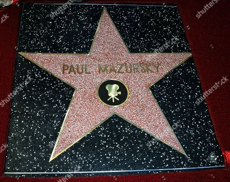 Stock Picture of Us Actor/director Paul Mazursky's Star is Seen on the Hollywood Walk of Fame in Hollywood California Usa 13 December 2013 United States Hollywood