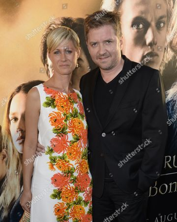 Composer Atli Orvarsson (r) From Iceland and His Wife Anna (l) Arrive For the Mortal Instruments: City of Bones Movie Premiere at the Arclight Cinerama Dome in Hollywood California Usa 12 August 2013 United States Hollywood