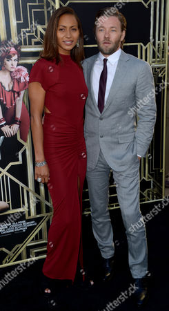 Actor Joel Edgerton (r) of Australia and Alexis Blake (l) Arrive For the World Premiere of the Movie 'The Great Gatsby' at the Lincoln Center in New York New York Usa 01 May 2013 the Film Opens Nationwide on 10 May 2013 United States New York