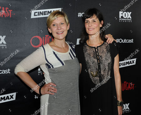 Executive Producers Sue Naegle (l) and Sharon Tal Yguado Attend a Red Carpet Photocall For the Fox International Studio Comic Con Party to Celebrate Robert Kirkman's New Drama Outcast in San Diego California Usa 09 July 2015 United States San Diego