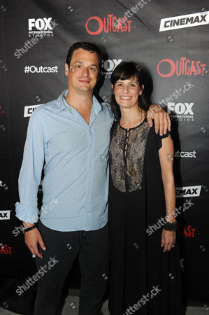 Executive Producers David Alpert (l) and Sharon Tal Yguado Attend a Red Carpet Photocall For the Fox International Studio Comic Con Party to Celebrate Robert Kirkman's New Drama Outcast in San Diego California Usa 09 July 2015 United States San Diego