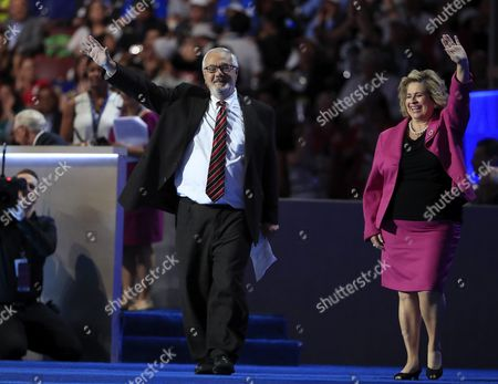 Rules Committee Co-chairs Barney Frank (l) and Lorraine Miller (r) Take the Stage on the First Day of the Democratic National Convention at the Wells Fargo Center in Philadelphia Pennsylvania Usa 25 July 2016 the Four-day Convention is Expected to End with Hillary Clinton Formally Accepting the Nomination of the Democratic Party As Their Presidential Candidate in the 2016 Election United States Philadelphia