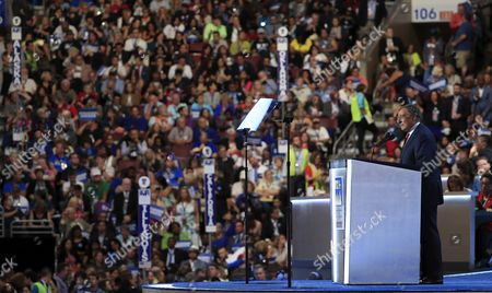Former United States Representative and Secretary of Defense Leon Panetta Speaks on the Third Day of the Democratic National Convention at the Wells Fargo Center in Philadelphia Pennsylvania Usa 27 July 2016 the Four-day Convention is Expected to End with Hillary Clinton Formally Accepting the Nomination of the Democratic Party As Their Presidential Candidate in the 2016 Election United States Philadelphia