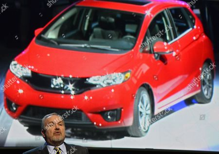 John Mendel Executive Vice President of Auto Sales America Talks About the New 2015 Honda Fit at the North American International Auto Show at the Cobo Center in Detroit Michigan Usa 13 January 2014 the North American International Auto Show is One of the Largest Car Shows Held Each Year in the United States and Opens to the Public 18 January 2014 United States Detroit