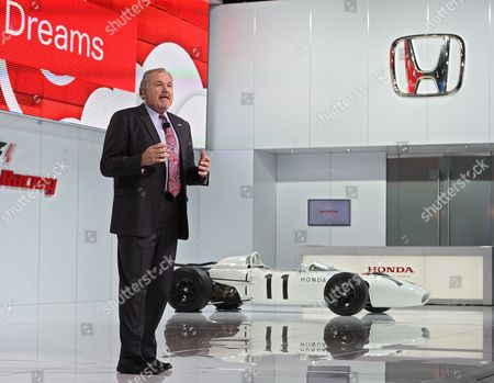 John Mendel Executive Vice President Automobile Division American Honda Motor Co Inc Speaks at the North American International Auto Show at the Cobo Center in Detroit Michigan Usa 13 January 2015 the North American International Auto Show is One of the Largest Car Shows Held Each Year in the United States and Opens to the Public 17 January 2015 United States Detroit