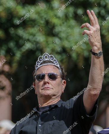 Stock Image of Us Actor Judge Reinhold Participates in the 30th Annual Dragon Con Parade in Atlanta Georgia Usa 03 September 2016 Thousands of Attendees Crowd Downtown Atlanta Hotels and Streets During the Labor Day Weekend For the Dragon Con Science Fiction and Fantasy Convention Many Dressed As Their Favorite Characters United States Atlanta