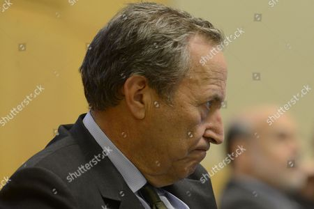Economist Lawrence Summers (front) and Us Federal Reserve Board Chairman Ben Bernanke (back) Attend an Economic Forum on 'Policy Responses to Crises' During the Fourth Annual Jacques Polak Research Conference at the International Monetary Fund (imf) in Washington Dc Usa 08 November 2013 United States Washington