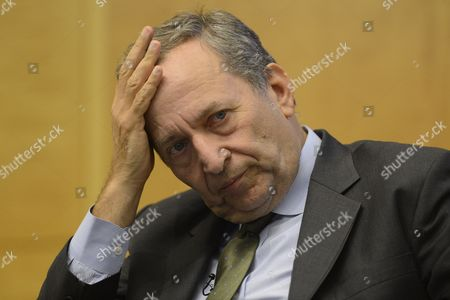Economist Lawrence Summers Attends an Economic Forum on 'Policy Responses to Crises' During the Fourth Annual Jacques Polak Research Conference at the International Monetary Fund (imf) in Washington Dc Usa 08 November 2013 United States Washington